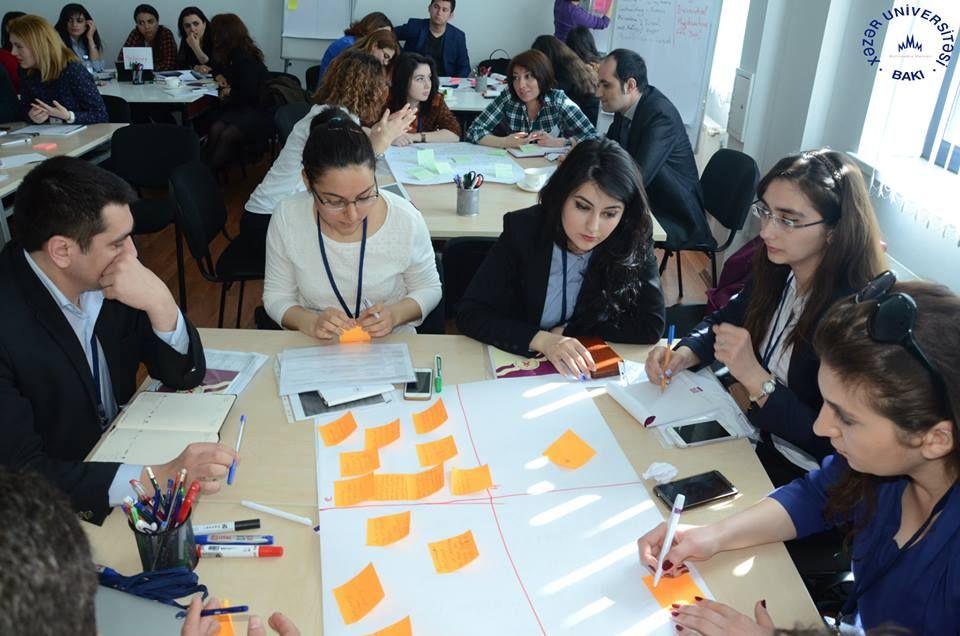 """21-23  April 2015 """"Tempus Project Actors Capacity Training """" in Baku, Azerbaijan at Khazar University ."""