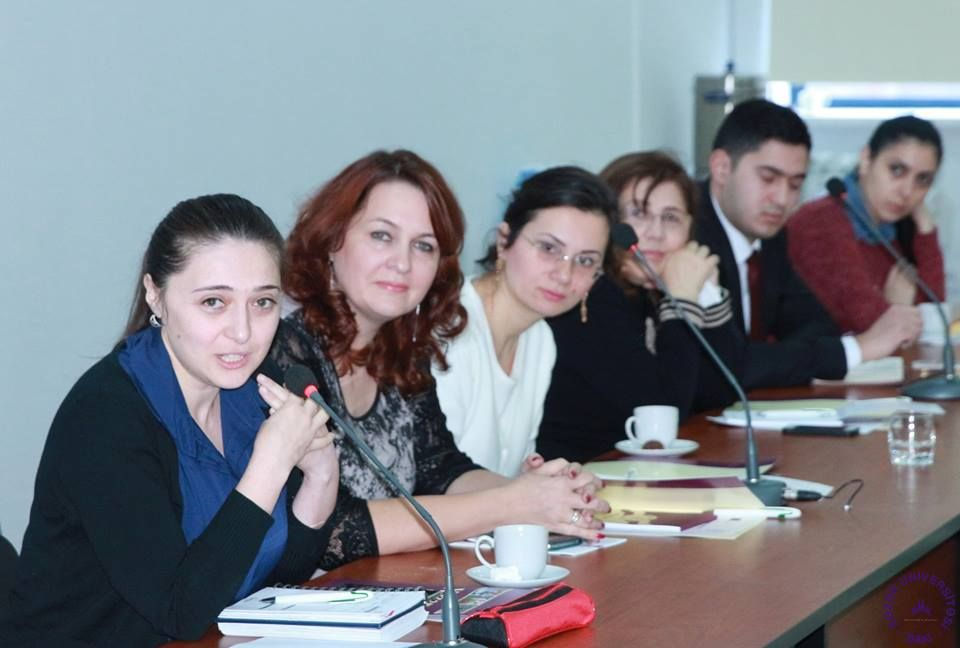 17 Deceber 2015,Meeting with projects selected under first CBHE Call for proposals , at Khazar University ,in Baku , Azerbaijan.