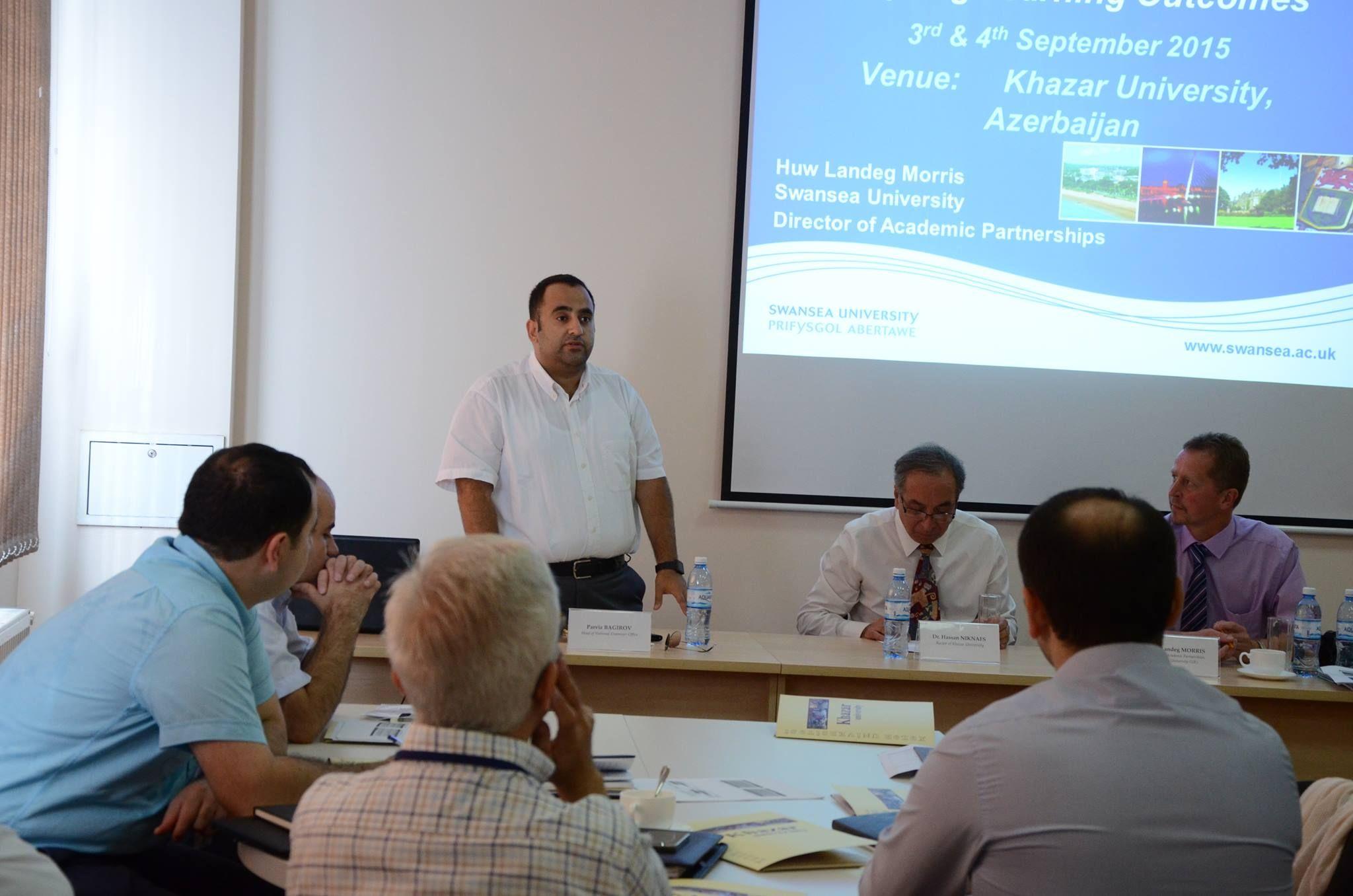 03 September 2015 , Program Level Learning Outcomes Workshop at Khazar University , in Baku , Azerbaijan.
