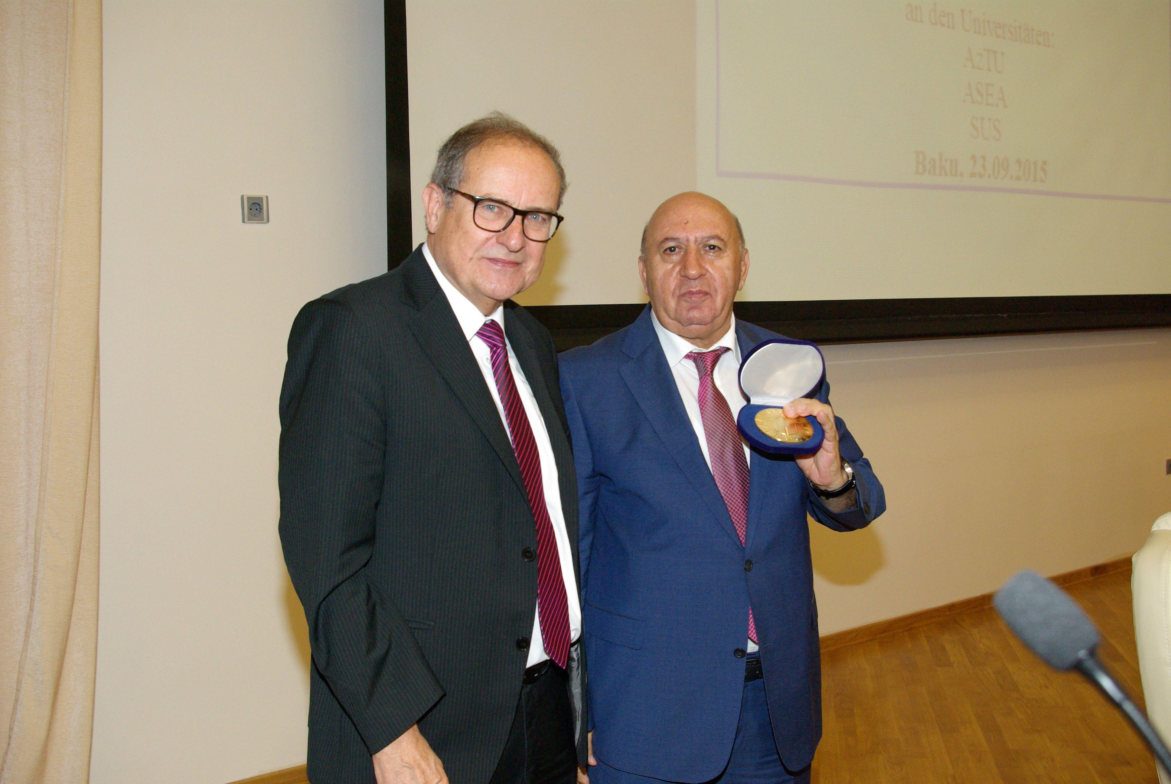 "23 September 2015, 516678 TEMPUS-1-2011-1-DE-TEMPUS-JPCR . Tempus project final conference on ""Energy management"" at Azerbaijan Technical University, in Baku , Azerbaijan."